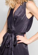 Young & Beautiful Wrap Belted Jumpsuit in Black