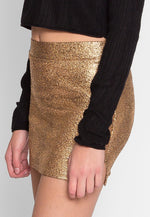 Surprise Textured Mini Skirt in Beige