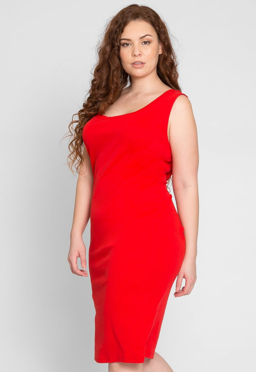 Plus Size The Most Knit Bodycon Dress in Red - Plus Dresses - Wetseal