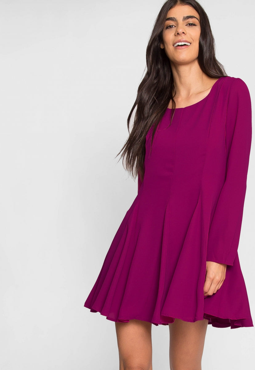 Sweet Magenta Flare Dress - Dresses - Wetseal