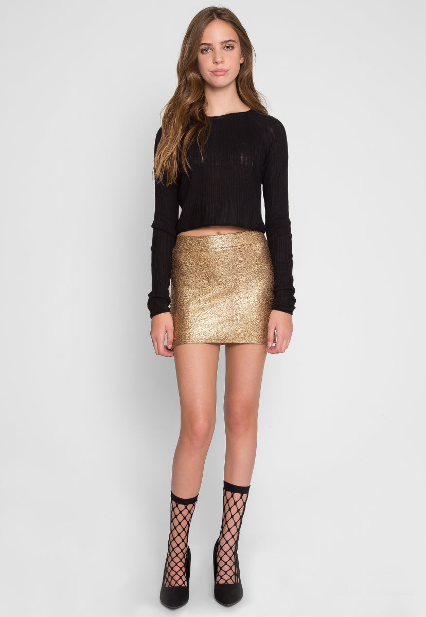 Surprise Textured Mini Skirt in Beige - Skirts - Wetseal