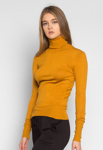 After Hours Turtleneck Sweater in Mustard