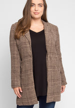 Plus Size Ultra Luxe Plaid Coat