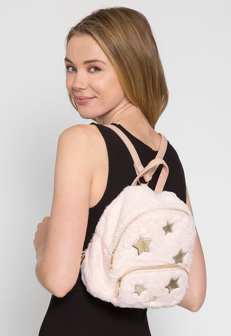 Star Fuzzy Mini Backpack