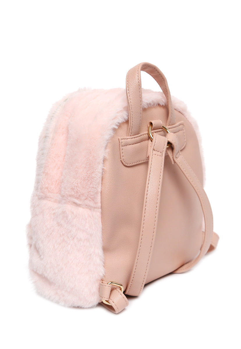 Star Fuzzy Mini Backpack - Bags - Wetseal