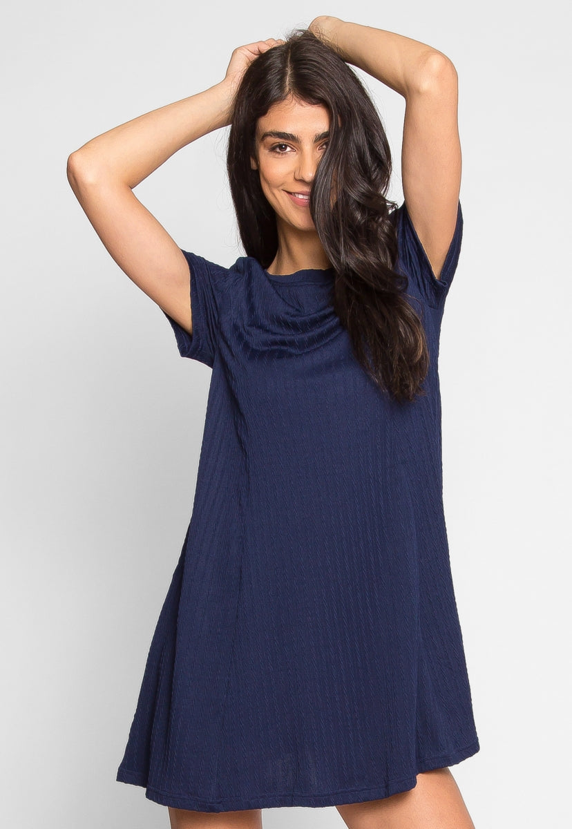 You and I Knit Dress in Navy - Dresses - Wetseal