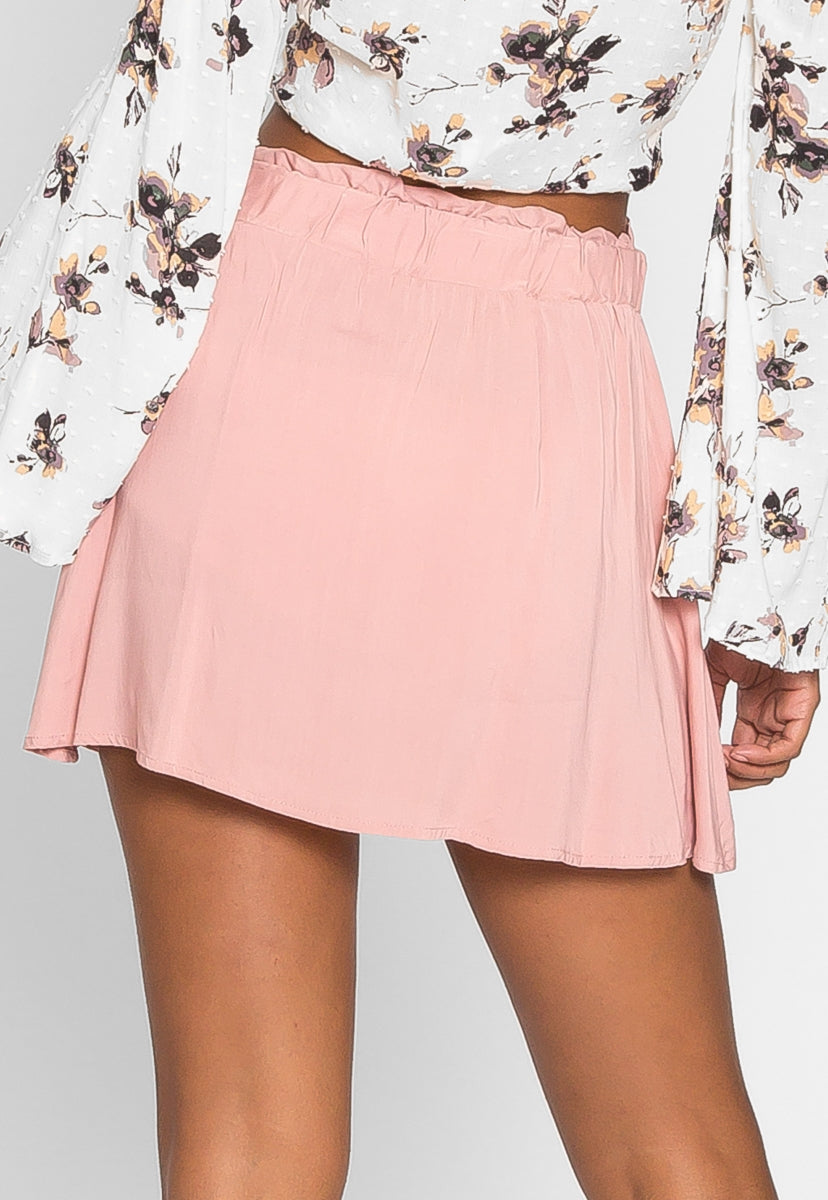 Boardwalk High Waist Skirt in Light Pink - Skirts - Wetseal