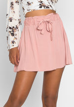 Boardwalk High Waist Skirt in Light Pink