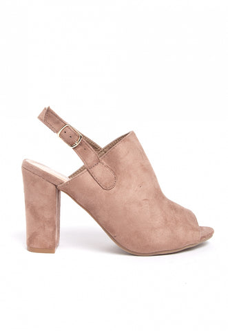 Joana Slingback Booties in Mocha