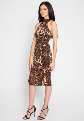 Belhurst Leopard Midi Dress