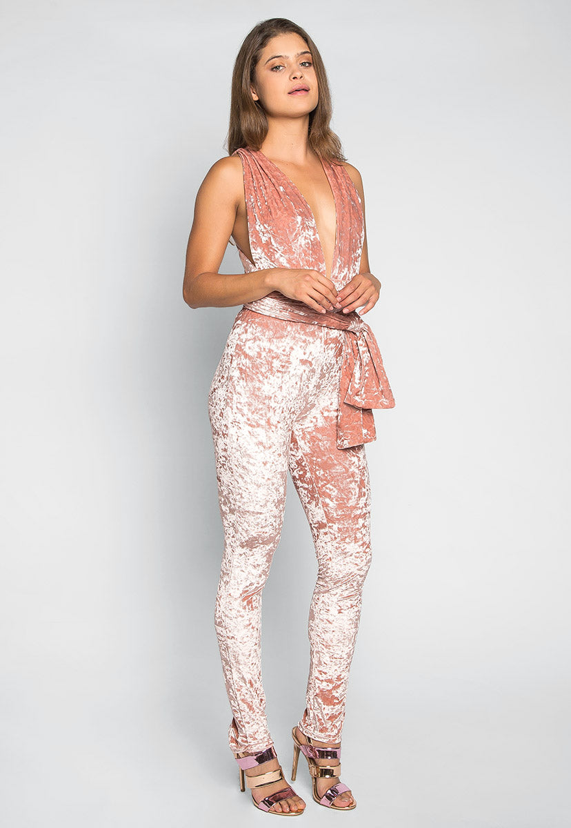 Front Row Multiposition Jumpsuit in Pink - Rompers & Jumpsuits - Wetseal