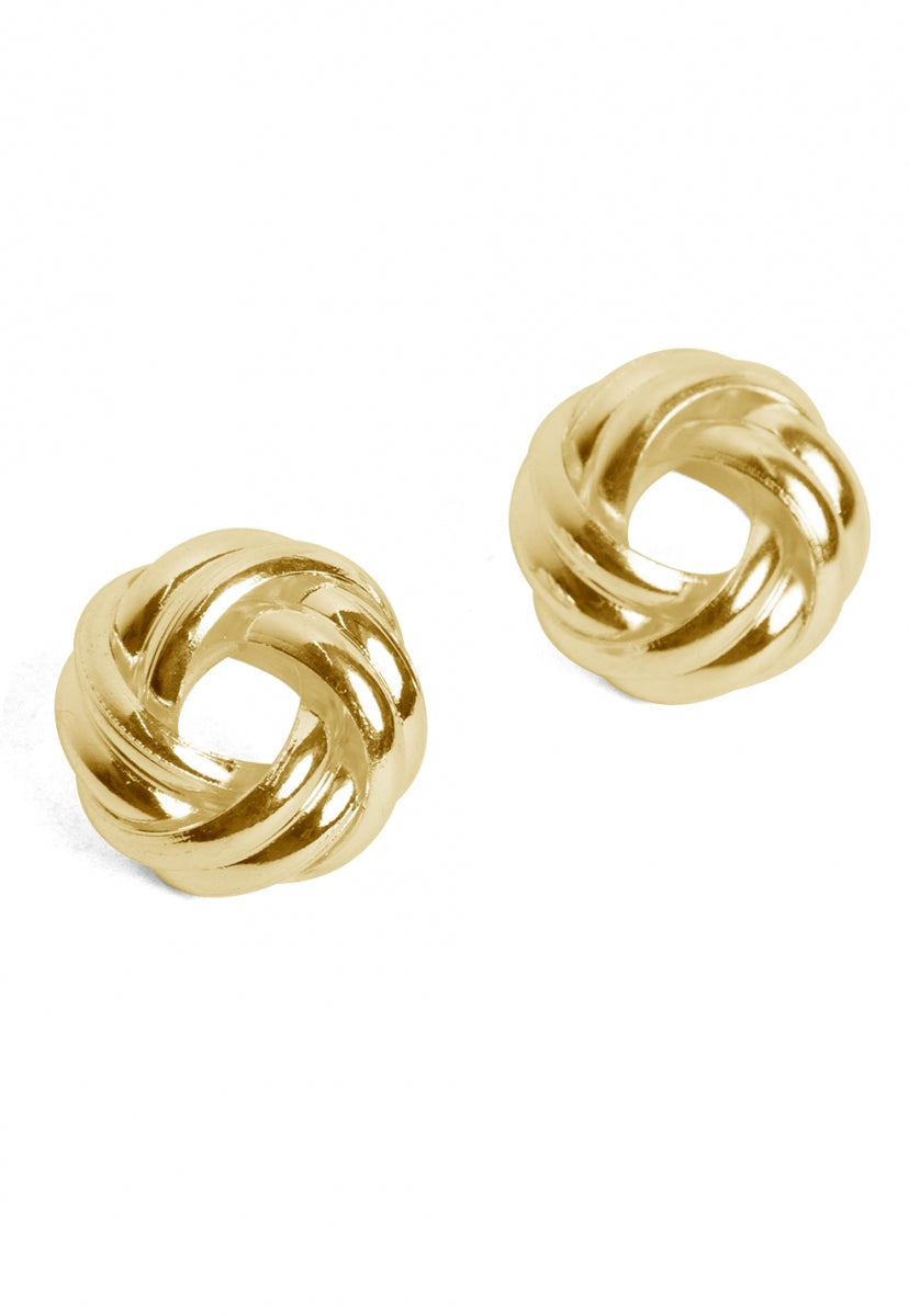 Knot Stud Earrings in Gold - Jewelry - Wetseal