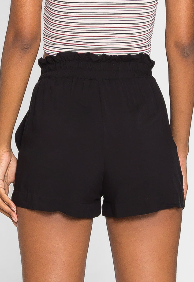 Skyline High Waist Shorts in Black - Short - Wetseal