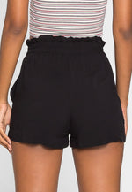 Skyline High Waist Shorts in Black