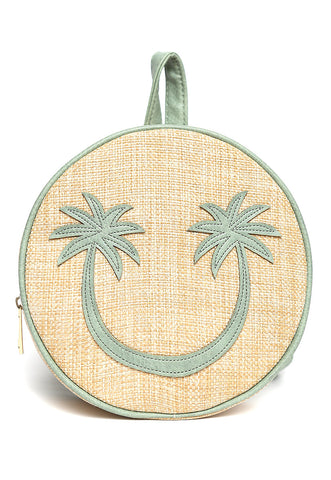 All Smiles Sunny Straw Mini Backpack