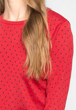 Watermelon Polka Dot Sweater in Red