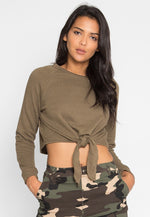 What You Are Sweatshirt in Olive