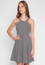 Lily Houndstooth Dress