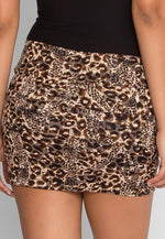 Holding On Leopard Mini Skirt