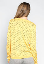 Watermelon Polka Dot Sweater in Yellow
