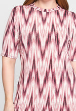 Plus Size Wishes Chevron Dress in Pink