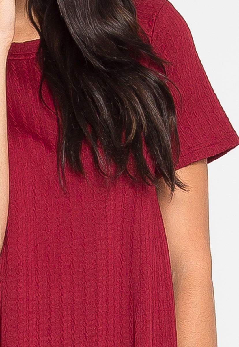 You and I Knit Dress in Wine - Dresses - Wetseal