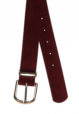 Burgundy faux leather belt