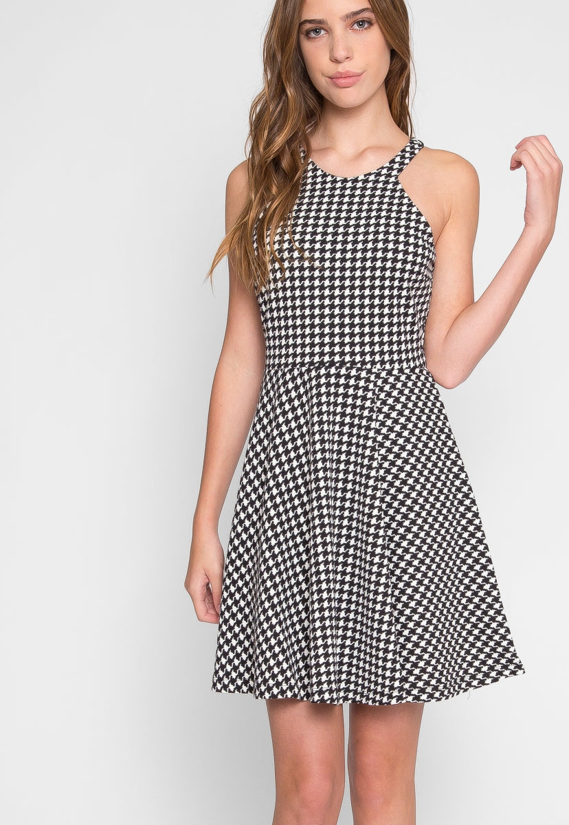 Lily Houndstooth Dress - Dresses - Wetseal