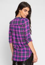Autumn Trails Plaid Blouse