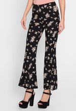 Luxe Floral Flare Pants