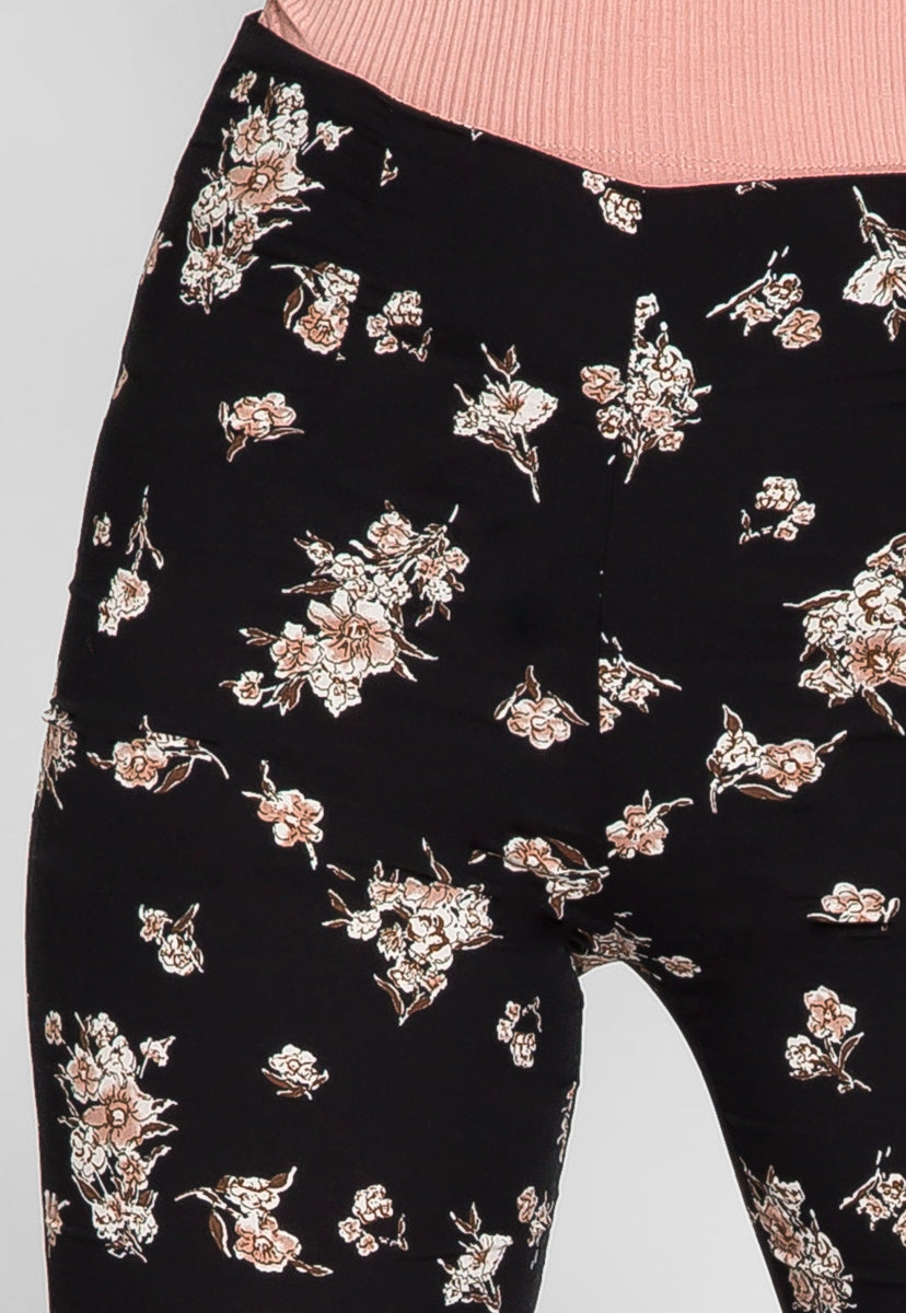 Luxe Floral Flare Pants - Pants - Wetseal
