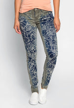 Intricate Graphic Skinny Jeans