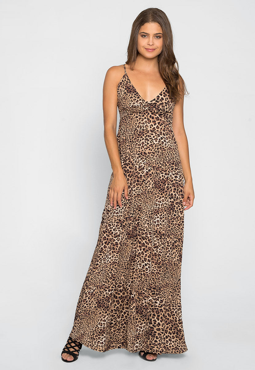Lovin' Leopard Maxi Dress in Brown - Dresses - Wetseal