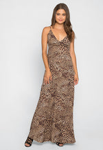 Lovin' Leopard Maxi Dress in Brown