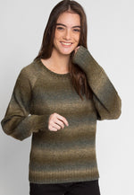 Whistler Stripe Knit Sweater in Olive