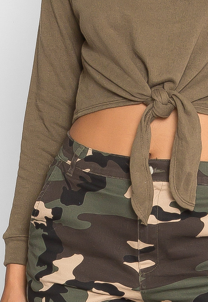What You Are Sweatshirt in Olive - Sweaters & Sweatshirts - Wetseal