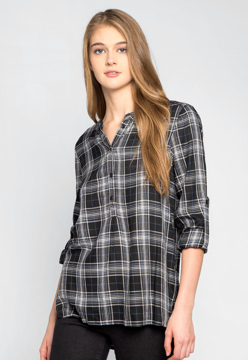 Take it Easy Plaid Blouse - Shirts & Blouses - Wetseal