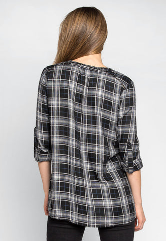 Take it Easy Plaid Blouse