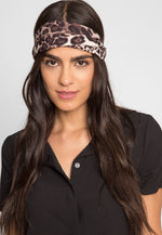 Fame Leopard Print Headband in Yellow