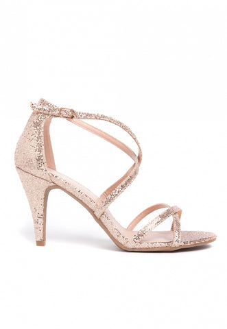 Gold Mine Ankle Strap Heels