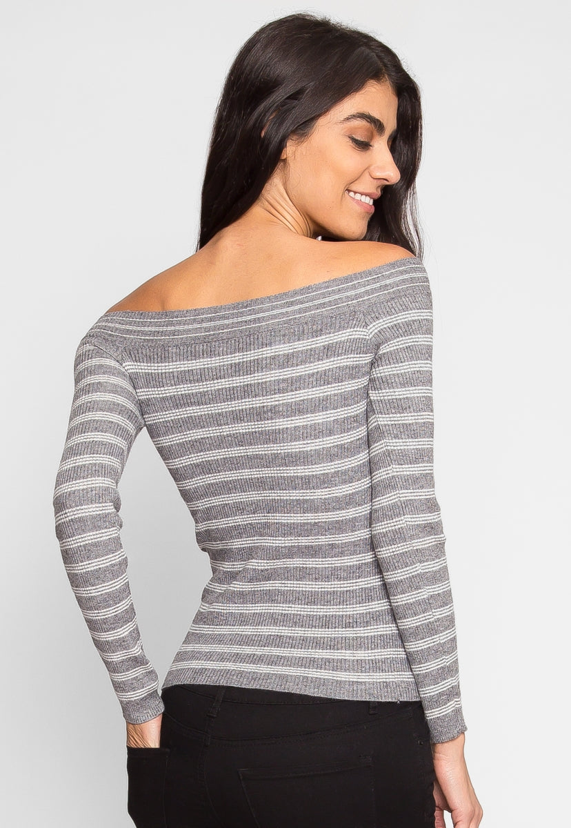 Wind It Up Off Shoulder Knit Top - Shirts & Blouses - Wetseal