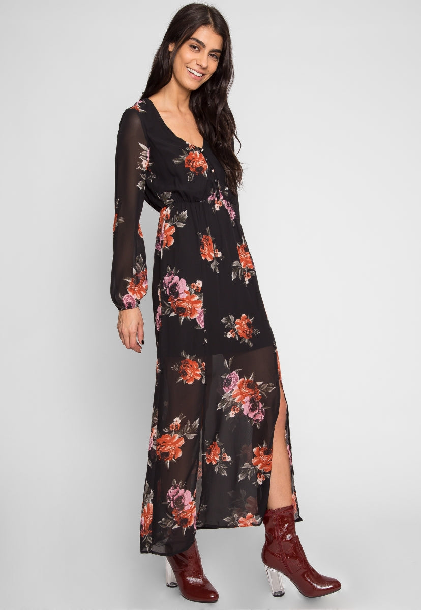 Emily Floral Maxi Dress - Dresses - Wetseal