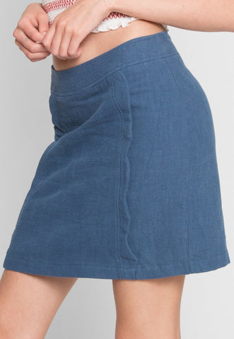 Sicily Scallop Skirt in Teal
