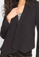 Work Hard Crop Shawl Collar Blazer