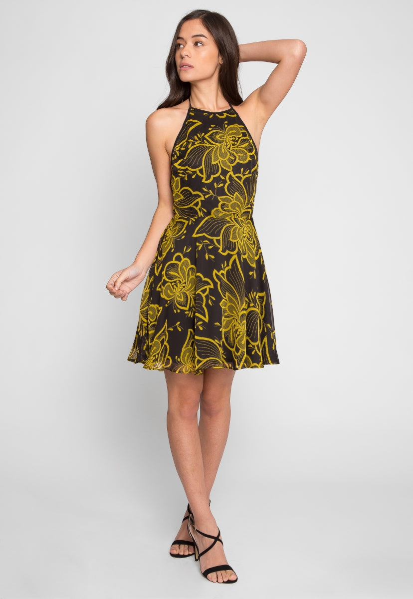 Islands Floral Fit and Flare Dress - Dresses - Wetseal