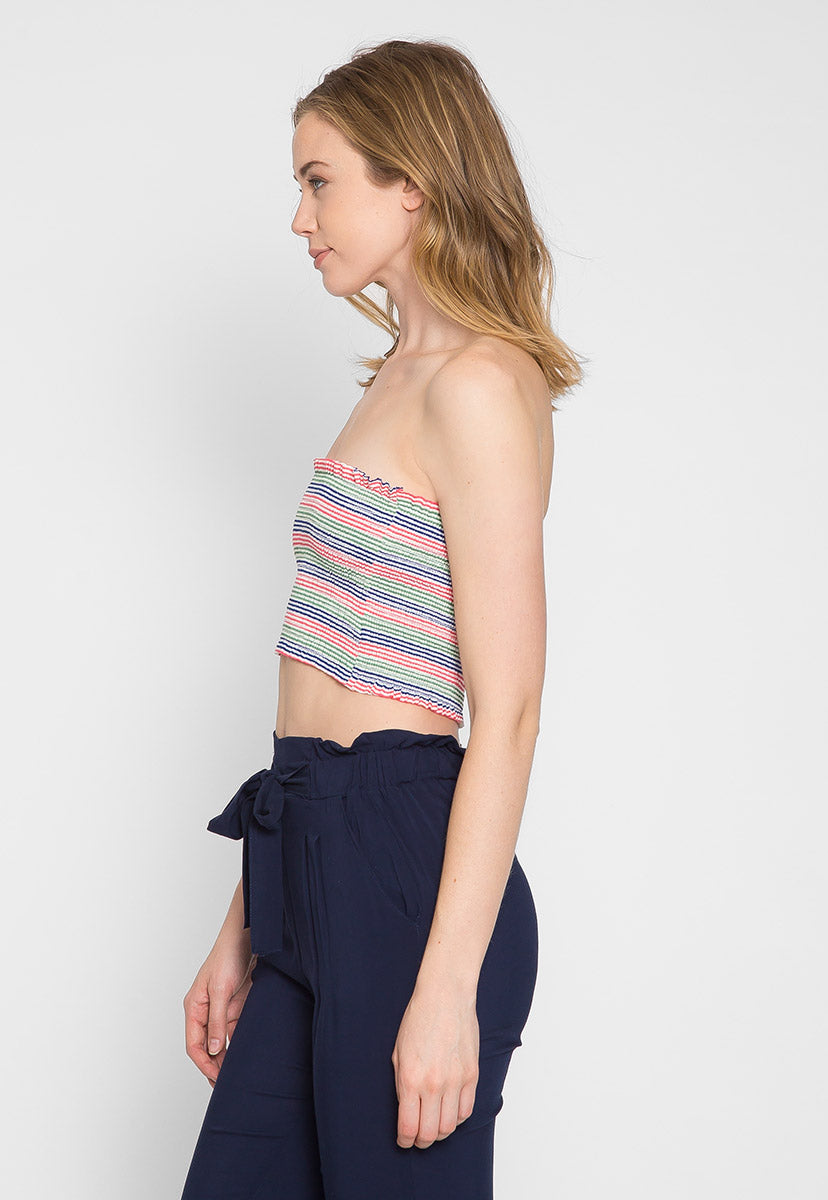 Maybell Tube Top in Pink - Crop Tops - Wetseal