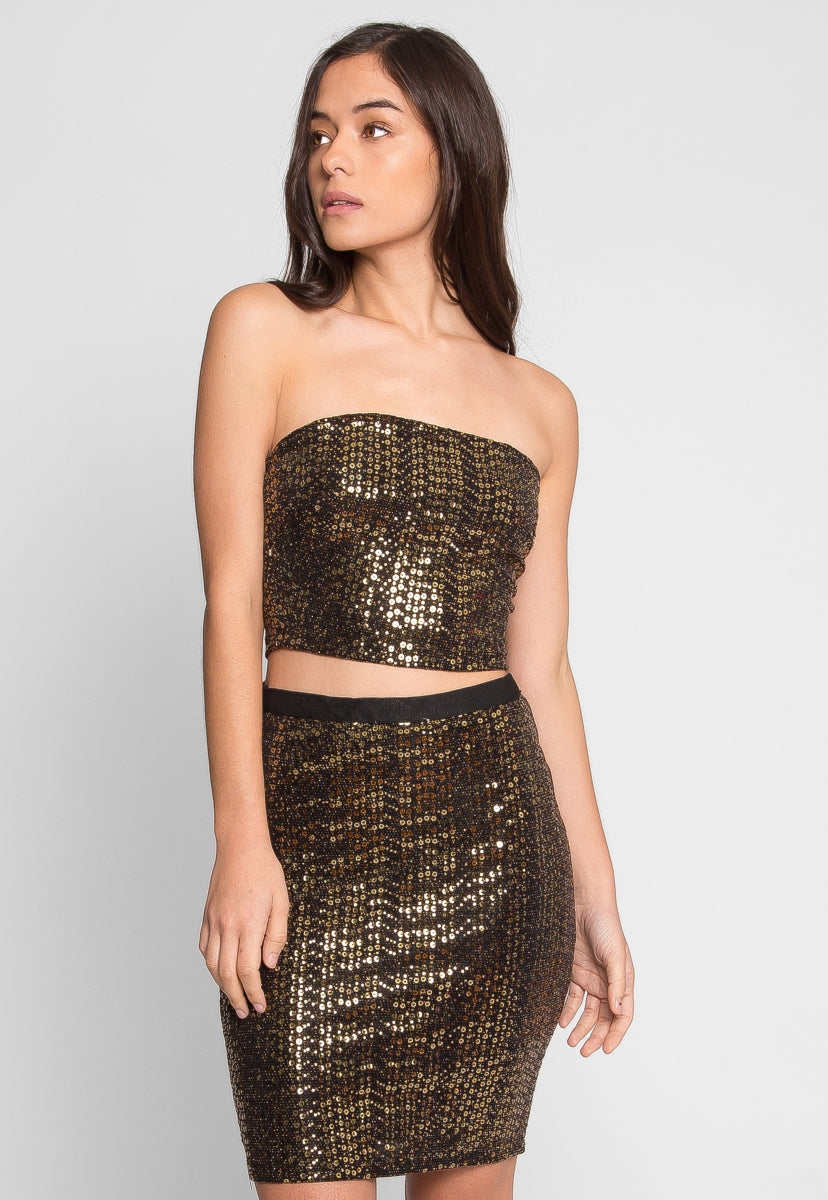 Who You Are Sequin Two Piece Set - Set - Wetseal