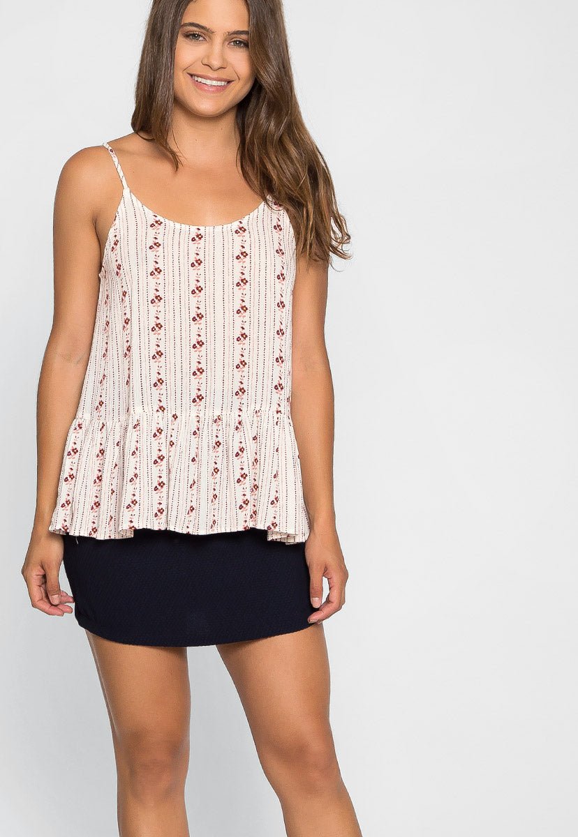 Little Flower Peplum Top - Shirts & Blouses - Wetseal