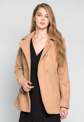 Fortune Cookie Double Breasted Coat