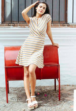 Sunday Afternoon Multi Stripe Skater Dress